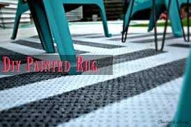 Diy Outdoor Rug Diy Painted Outdoor Rug Creatively Living