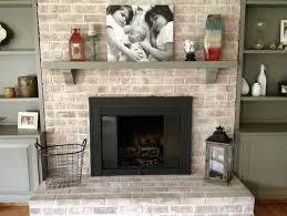 outdoor brick fireplace surround with whitewashing brick fireplace
