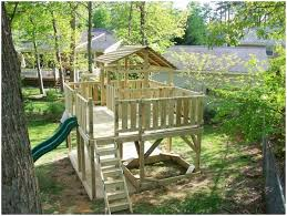 Backyard Play Ideas Backyards Bright Backyard Playground Ideas With Small Cream Wood