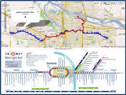 portland light rail map map portland trimet max light rail on google maps