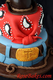 cowboy cake with jeans bandana u0026 hat