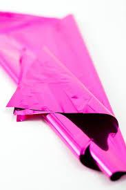 mylar tissue paper hot pink mylar soiree supply