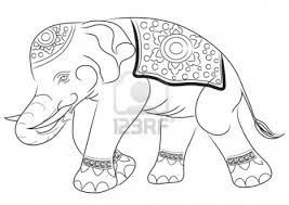 asian elephant drawing by illustration royalty free stock photo