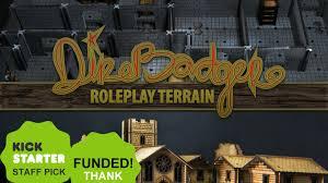 direbadger lasercut roleplay town u0026 dungeon terrain by