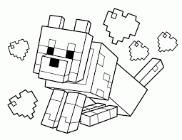 minecraft coloring pages animals coloring