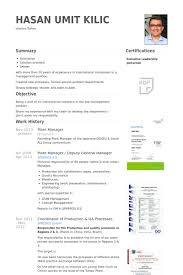 Qa Manager Resume Sample by Plant Manager Resume Samples Visualcv Resume Samples Database