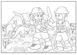 browse home scout day activity coloring pages 333795