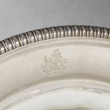 engraved silver platter aucoc elder silver platter engraved with marquis crown