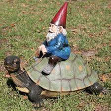new gnome turtle garden statue sculpture figurine pond