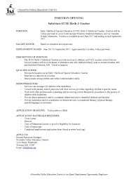 early childhood special education teacher cover letter writing