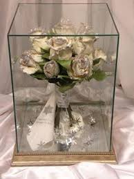 wedding bouquet preservation many table top containers to display your preserved wedding flowers