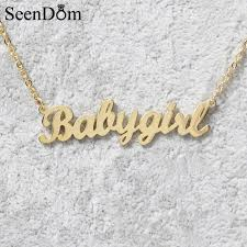 Personalized Name Aliexpress Com Buy Lovely Gift Gold Color