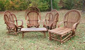 Rustic Outdoor Furniture Clearance by Rustic Resin Wicker Patio Furniture Sets With Unique Shape Design