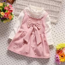 wholesale girls winter vest dresses baby cotton dress 0 4 years