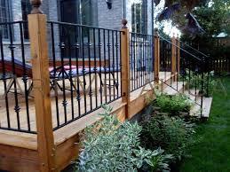Deck Railing Planter Box Plans by Outdoor U0026 Garden Perfect Wooden Raised Deck Design With Pergola
