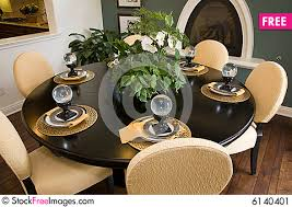 how to decorate a dining table dining table with modern decor free stock photos images