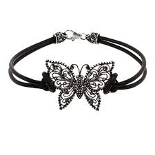 butterfly bracelet images Silver marcasite butterfly bracelet eve 39 s addiction jpg