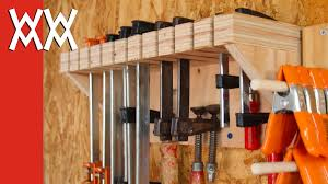Wood Storage Rack Plans by Woodworking Clamp Storage And Organization Youtube