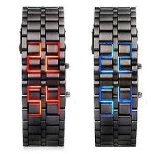 bracelet watches led images New iron samurai metal bracelet lava watch led digital watches JPG