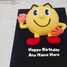 birthday smiley cakes for kids with name