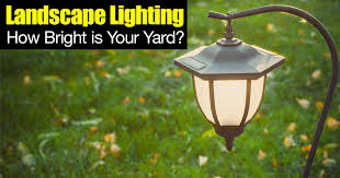 Yard Lighting Landscape Lighting How Bright Is Your Yard