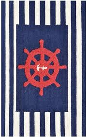 rug market kids nautical 71167 navy blue red white area rug