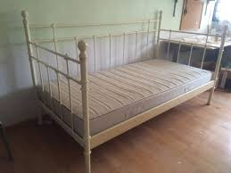 used ikea single bed frame with mattress in good condition for