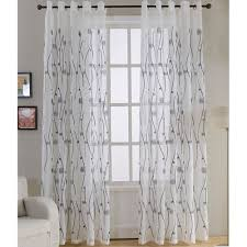 Embroidered Sheer Curtains Embroidered Sheer Curtains