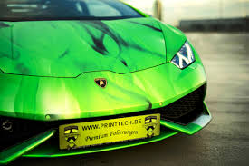 wrapped lamborghini 2016 printtech de lamborghini huracan tricolore in brushed chrome