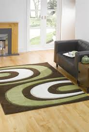 Buy Modern Rugs by Monte Carlo Hunch Brown Green Abstract Rug Buy Rugs Online In The Uk