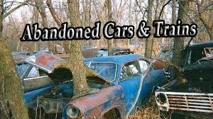 junkyard car youtube old abandoned ghost trains u0026 locomotives abandoned junkyard cars