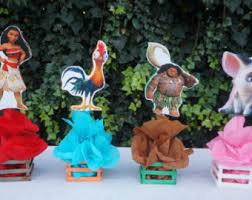 Decorate Table For Birthday Party Moana Centerpiece Etsy