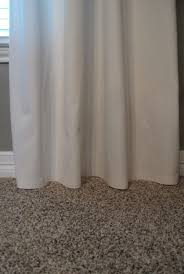 Hemming Tape Curtains How To No Sew Hem Curtains While They U0027re Still On The Rod