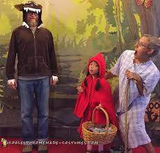 red riding hood spirit halloween awesome homemade little red riding hood family costume