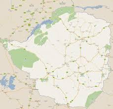 Zimbabwe Map Footiemap Com Zimbabwe 2011 Map Of Top Tier Zimbabwean
