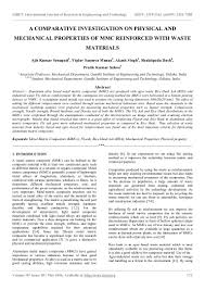 a comparative investigation on physical and mechanical properties of u2026