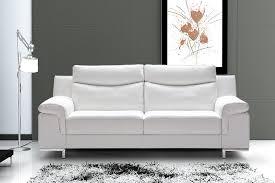 canapé cuir blanc 3 places canapé 3 places cuir italien blanc t sofamobili