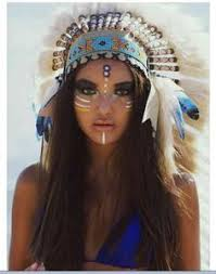 Women Indian Halloween Costume 20 Indian Face Paints Ideas Native American