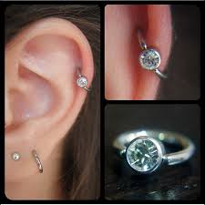 diamond cartilage piercing cartilage diamond hoop on the hunt