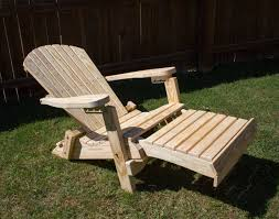 treated pine folding adirondack chair w footrest