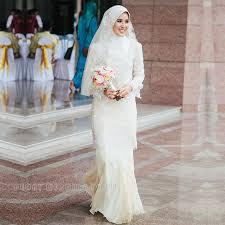 muslim wedding dress fashion simple chiffon lace muslim wedding dresses sheath