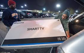 best black friday smart tv deals black friday sales get underway across the country daily mail online