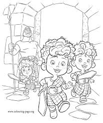 brave harris hubert and hamish brave movie coloring page
