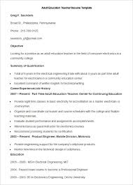 Resume Templates For Teachers Free English Cv Accountant Sample Profesional Resume For Jobeducation