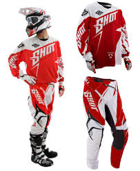shot motocross gear shot flexor motocross mx kit enduro bike pants jersey edge red