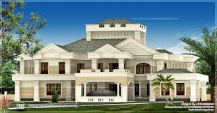 luxury estate home plans luxury kerala house exterior design plans house plans 13176