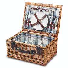 time bristol two person willow picnic basket