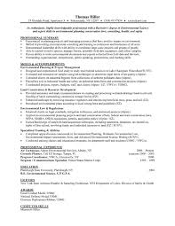 Entry Level Communications Resume Environmental Science Entry Level Resume Samples Vault Com