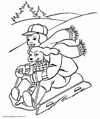 winter fun coloring pages www kanjireactor