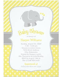baby shower invitations deals on elephant baby shower invitations yellow and gray